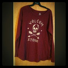 Long sleeved tee. Cool long sleeved tee from Volcom. I really love this but just don't wear it that often. Volcom Tops