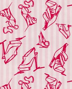 Graham & Brown, Shoes #wallpaper by Barbara Hulanicki