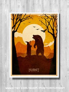 The Hobbit poster - Lord Of The Rings, movie print, J.R.R. Tolkien, Gandalf, Art print, minimalist movie, Lord of the rings movie, LOTR,