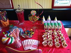 Circus themed birthday party decor and snack food ideas