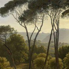 Italiaans landschap met parasoldennen, Hendrik Voogd, 1807 - Topstukken - Kunstwerken - Ontdek de collectie - Rijksmuseum
