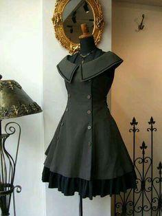 Designer Clothes, Shoes & Bags for Women Lolita Fashion, Gothic Fashion, Vintage Fashion, Steampunk Fashion, Pretty Dresses, Beautiful Dresses, Vintage Dresses, Vintage Outfits, Retro Mode