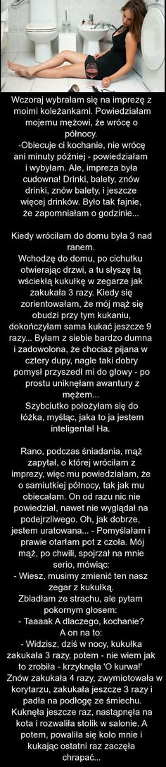 Impreza z KOLEŻANKAMI się trochę przedłużyła :P Czyli jak OSZUKAĆ MĘŻĄ :P Funny Text Memes, Wtf Funny, Funny Texts, Funny Jokes, Hilarious, Funny Stories, True Stories, Polish Memes, Weekend Humor