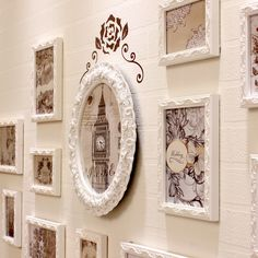 Beautiful Shabby Chic Wood Photo Collage Wall Frames Collection 13 or 16 PC/Set
