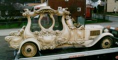 1929 Studebaker Children's Hearse from Uruguay - looks like a fairytale princess wagon... not a hearse...