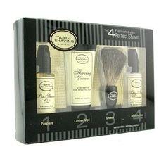 Starter Kit - Unscented: Pre Shave Oil + Shaving Cream + Brush + After Shave Balm - 4pcs