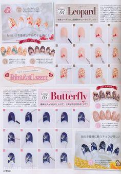 Nail art lesson via Nail Max Japan