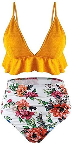 3a07e8dca8d New SS Queen Womens High Waisted Swimsuit Ruffle Print Bikini Swimwear Two  Pieces Bathing Suit Womens Swimsuits. [$24.96] newtopgoods Fashion is a  popular ...