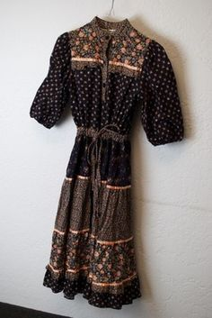 Vintage Young Edwardian Calico Boho Prairie Dress Size 5 | eBay
