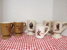 Lot of 6 Vintage Hobo Joe, Alphy's, Manny's restaurant coffee, tea mugs- glamping R V by rummagechicboutique on Etsy