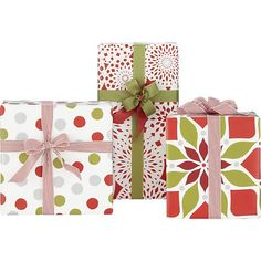 Red and White Gift Wrap in Gift Wrap, Gift Tags | Crate and Barrel