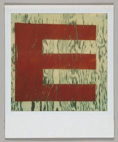 "Walker EVANS :: Detail of Sign Lettering: ""E"", August 1974"