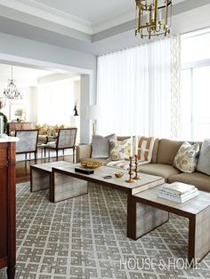 Luxe Family Room by Tommy Smythe | Photo Gallery: Rooms With Warm Metal Accents | House & Home | Photo by Michael Graydon