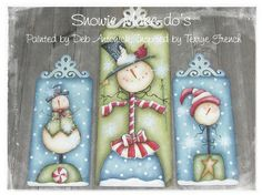 EPattern  Snowie Makedo's by PaintingwithDeb on Etsy, $5.00