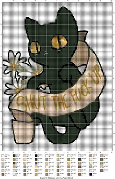 Rude kitty cat cross stitch patterns https://www.reddit.com/r/CrossStitch/comments/3m906v/not_totally_in_love_with_the_fo_but_eat_a_dck/
