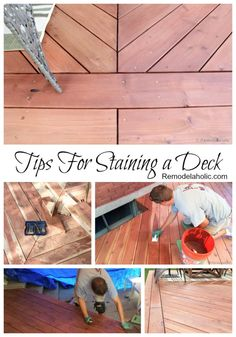 Tips for Staining a deck from @remodelaholic