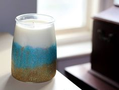 Bay Rum, Candles For Sale, Glitter Paint, Soy Candles, Glass Of Milk, Etsy Shop, Unique Jewelry, Handmade Gifts, Kid Craft Gifts