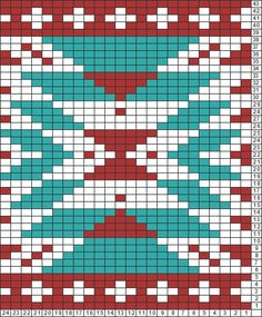 Tricksy Knitter Charts: aztec motif by chocochick345