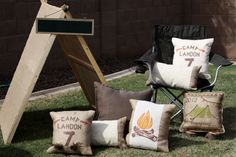 outdoor backyard camping party ideas lounge area