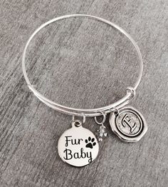 I love my Fur Babies Fur Baby SILVER BRACELET Dog by SAjolie
