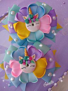 Ribbon Art, Diy Ribbon, Ribbon Crafts, Ribbon Bows, Diy Crafts, Ribbons, Handmade Hair Bows, Diy Hair Bows, Diy Bow