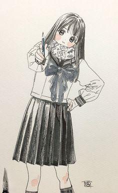 メディアツイート: (博)4/19明日ちゃん一巻発売(@siiteiebahiro)さん | Twitter Character Inspiration, Character Art, Character Design, Moe Manga, Manga Anime, Innocent Girl, Hand Art, Anime Sketch, Manga Illustration