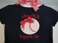 Little Sister Biggest Fan Baseball Tee Shirt Soccer with Bow via Etsy  - could be a basketball too