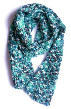 Green multicolor scarf Hand knit simple wool scarf Chunky knitted Long Winter Accessories Gift for him Chunky Scarves, Neck Scarves, Chunky Wool, Ornaments Design, Long Winter, Green Wool, Easy Knitting, Red Silk, Winter Accessories