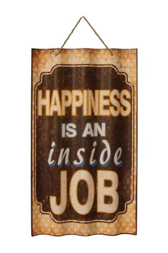 """Inside Job"" Metal Sign"