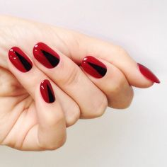 black and red vamp nails by steph stone