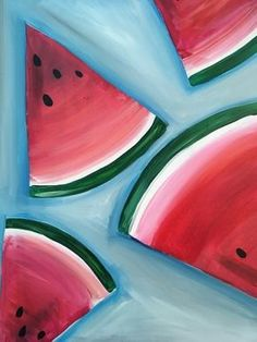 Watermelon Wedge - Paint Nite Painting