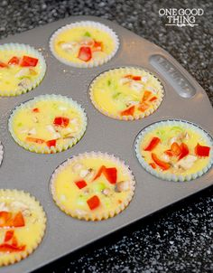 Mini Omelet Muffins or Breakfast Cupcakes? You decide! :-) {Gluten Free} | One Good Thing By Jillee