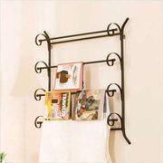 Bathroom -  towel, magazine rack combo?