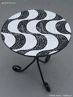 Mosaic table- like the swirls.  Could try stripes or ombre or chevron!?