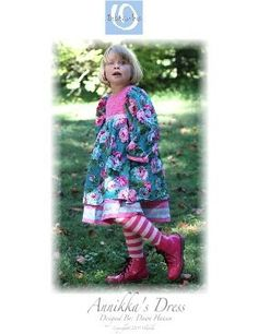 Annika's dress pattern for girls by Olabelhe, available at www.chadwickheirlooms.com