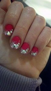 Blingy nails by @Astrowifey