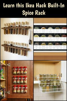 Organize your spices with this Ikea hack - a built-in spice rack!