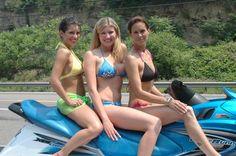 PA Bikini Team at charity car wash at Primanti Brothers Restaurant