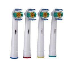 新しい4ピース/セット口腔衛生eb-18aロータリーb電動歯ブラシヘッド交換用ブラウンオーラル柔らかい毛歯ブラシヘッズ