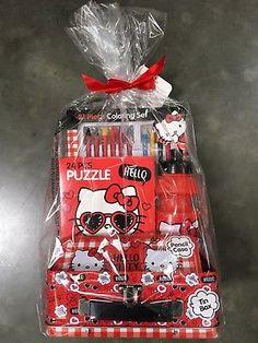852ac18fec8d1 Sanrio Hello Kitty Valentine's Day 2019 Gift Set Basket Tin Lunch Box Case  Red Tin Lunch