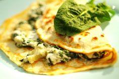 Špenátové palačinky s brynzou Tacos, Fresh, Ethnic Recipes, Food, Essen, Meals, Yemek, Eten