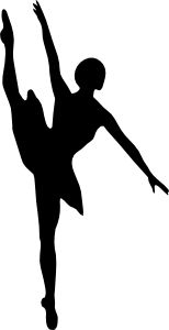 Ballet dancer by @laobc, A silhouette of a ballet dancer. Uma silhueta de uma bailarina.
