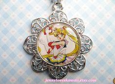 Sailor Moon Japanese Anime Manga Kawaii Pendant Necklace. $20.00.