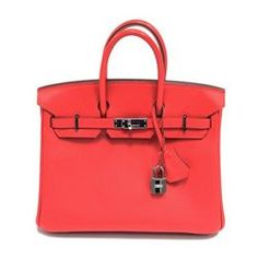 Authentic Vintage Hermes Birkin Bag in Red Epsom Leather from the Candy  Collection with Palladium hardware- Longfellow Auctions f32707697dd36