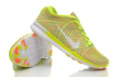 Foto Nike Free TR Arancio Giallo 5.0 WMNS Bianco Flyknit Scarpe