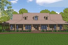 This one would make Thomas Happy... a wrap around porch. House Plan 8-196