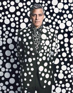George Clooney X Yayoi Kusama For W