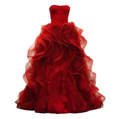 OMLOVE found on Polyvore featuring polyvore, women's fashion, clothing, dresses, gowns, vestidos, long dresses, red ball gown, long red dress and red dress