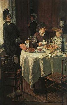 The Luncheon - Claude Monet - 1868 - Realism