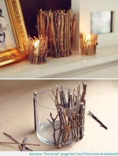 A cute idea for all the sticks the kiddo brings me.